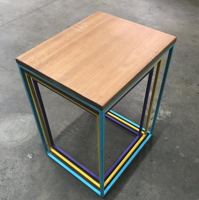 Modern Nesting Tables-purple-yellow-teal-Stacking Tables-Telescoping Accent Tables-Side Tables-Minimalist by LucasAhlstrand