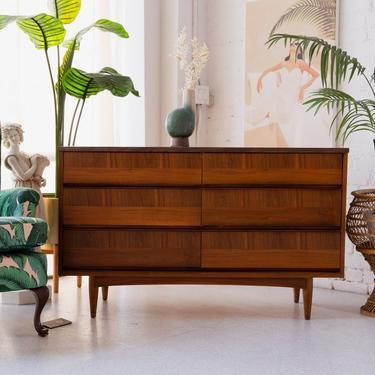 6-Drawer Sleek Formica Top Dresser