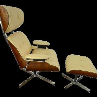 Mid Century Plycraft Chair and Ottoman