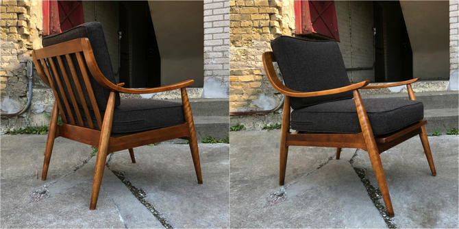 Tell City Wood Frame Easy Chair