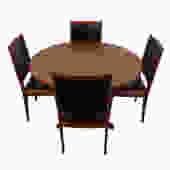 Danish Modern Teak Round Dining Table