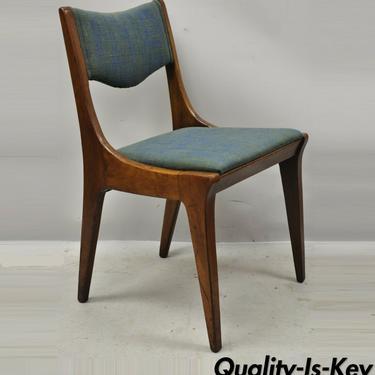 Drexel Dateline John Van Koert Walnut Mid Century Modern Dining Side Chair (A)