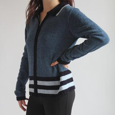 Tri Color Blue Cozy Cardigan NWT Acrylic fits XS - M by BeggarsBanquet