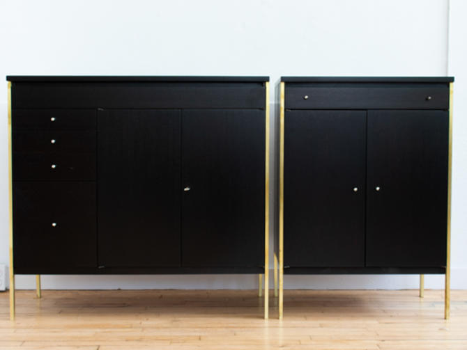 Paul McCobb Directional Dry Bar and Cabinet