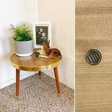 Brown Mid Century Formica Plant Stand by dadacat