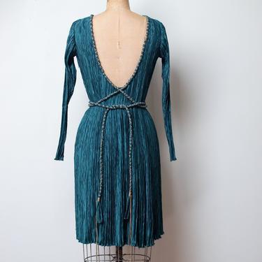 1980s Pleated Dress | Mary Mcfadden by FemaleHysteria