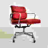 Vintage Herman Miller Red Aluminum Group Office Chair