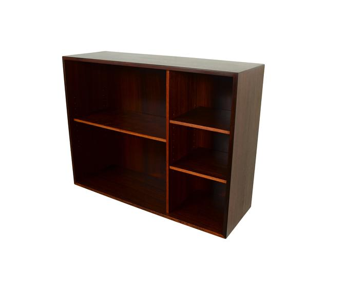 Danish Modern Rosewood Bookcase Wall Unit Floating Cabinet by HG Furniture Hansen Guldborg by HearthsideHome