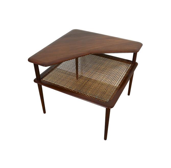 Peter Hvidt Minerva Corner Table Orla Mlgaard-Nielsen France and Daverkosen Danish Modern by HearthsideHome
