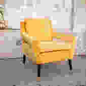 Yellow Vintage Reupholstered Chair