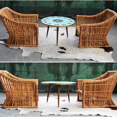 "Vintage 30"" Diam. Italian Mid Century Round Circular Mosaic Garden Patio Coffee Table MCM Brass detail Polish coin Turquoise black 50's 60's by CatchMyDriftVintage"