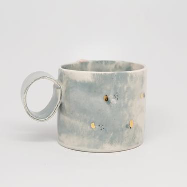 Ready to Ship, Handmade Porcelain 8oz Mug by fromfran