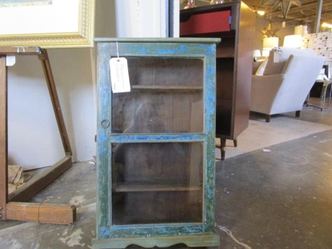 RUSTIC PAINTED HANGING CABINET