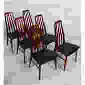 Set of 6 Koefoed Hornslet Danish Teak Dining Chairs
