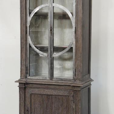Tall Wood & Metal Display Cabinet by Terra Nova Furniture Los Angeles by TerraNovaLA