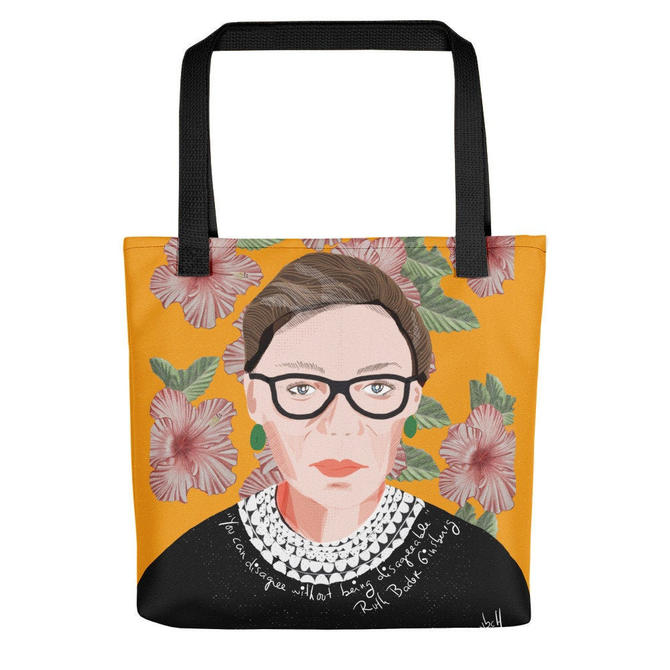 Tote bag RBG by VioletredStudio