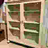 Painted vintage glass cabinet, 46