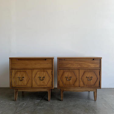 1960s Walnut Nighstands - a Pair by VintageOnPoint