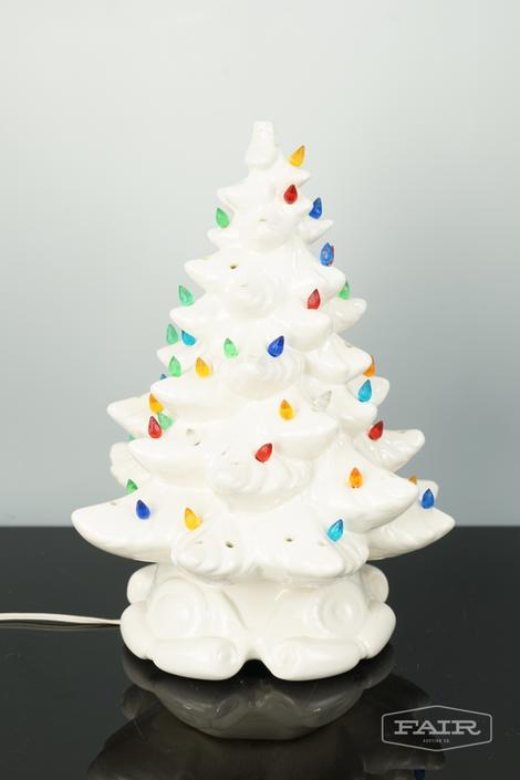 AWhite Ceramic Christmas Tree