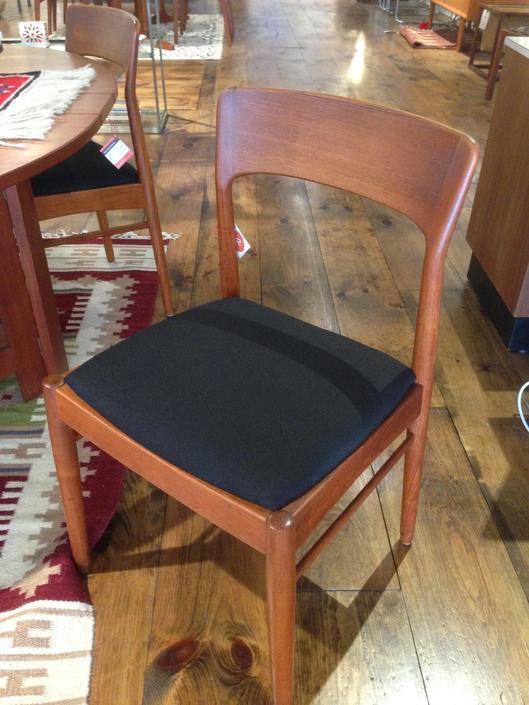 Set of 4 teak Danish dining chairs