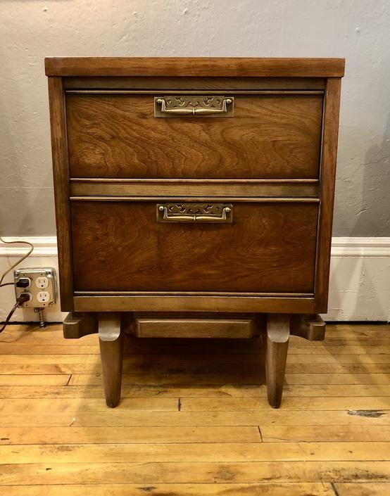 Vintage two drawer Nightstand 1960's