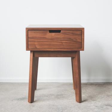 Ventura Nightstand / Bedside Table - Solid Walnut - Tapered Leg - Available in other woods by HedgeHouse