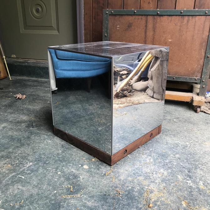 Walnut Chrome Pedestal Vintage Mid-Century modern Studio Craft Milo Baughman PAul Evans by BrainWashington