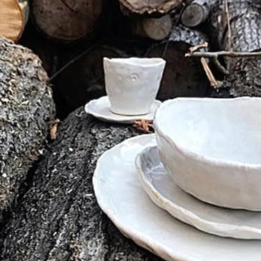 Handmade Cup and Saucer, cup and saucer set, organic pottery by altheaspottery
