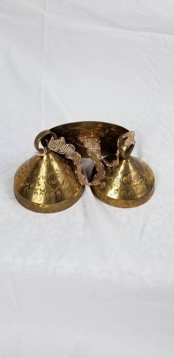 Vintage Brass Bells of Sarna Wall Hanger by MOBvintage