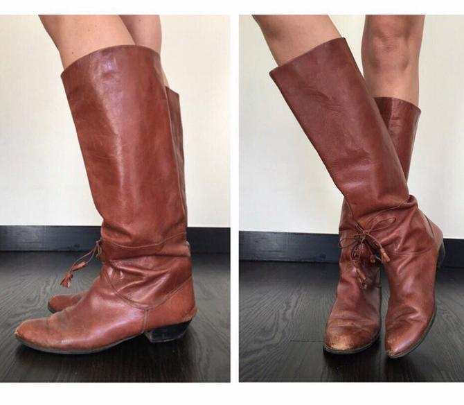 Vintage Tassel Cognac Riding Boots by SpeakVintageDC
