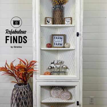 Adorable Farmhouse Corner Hutch by reFabulousFindsCF