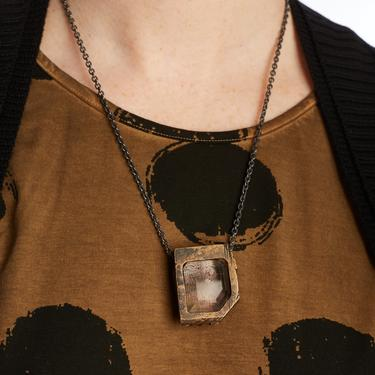 GASPARD HEX Lodolite Quartz Pendant Necklace