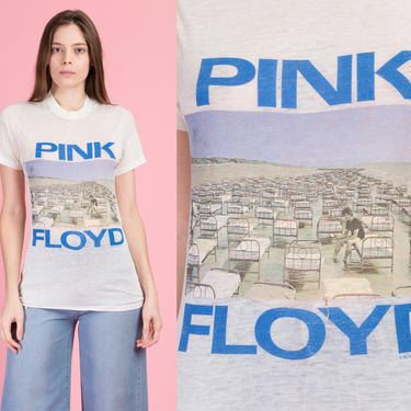 Rare Vintage Pink Floyd 1988 World Tour Tee - XS to Small   80s Paper Thin Burnout Unisex Graphic Music T Shirt by FlyingAppleVintage