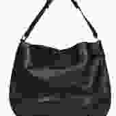 Tory Burch - Black Pebbled Leather Hobo Shoulder Bag