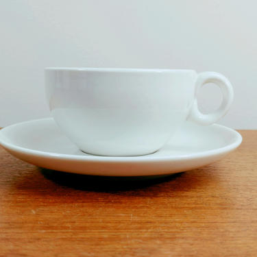 Vintage Iroquois Casual China | Early Tea Cup(s) and Saucer(s) | Russel Wright | Sugar White by TheFeatheredCurator