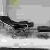 Midcentury Ekornes Style Recliner & Otto Set
