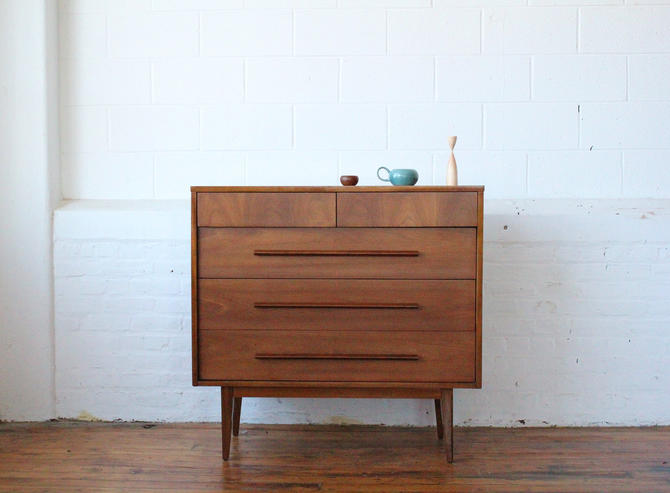 MCM Cherry Dresser with Angular Pulls by NijiFurnishing