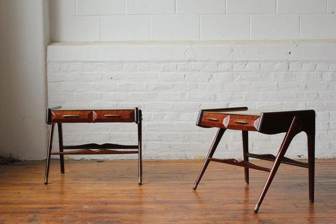Pair of Italian Modern Double Drawer Nightstands by NijiFurnishing