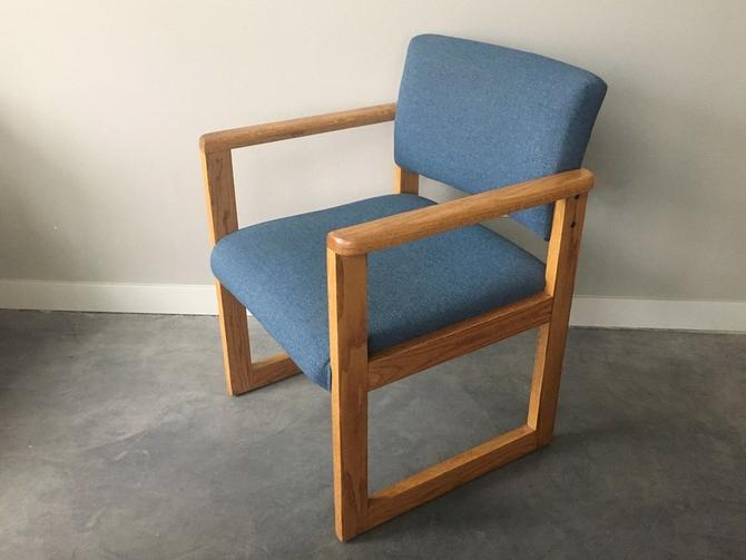 vintage mid century modern cube chair.