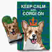 Corgi Kitchen Set- Oven Mitt & Tea Towel