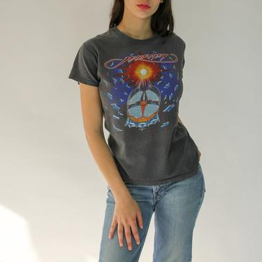 80s Journey Escape Tour Tee Shirt   Worn In, Super Soft, Vintage Tee Shirt    Authentic 1982 Paper Thin Single Stitch Band Tour Tee Shirt by TheVault1969