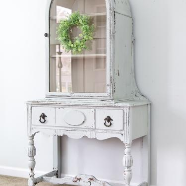 Chippy Vintage China Cabinet