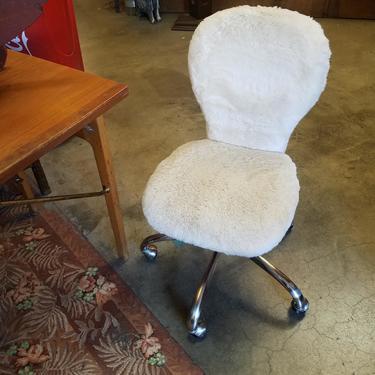 Pottery Barn Faux Fur Swivel Task Chair