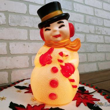 Vintage General Foam Plastics Corp Plastic Blow Mold Christmas Snowman by RedsRustyRelics