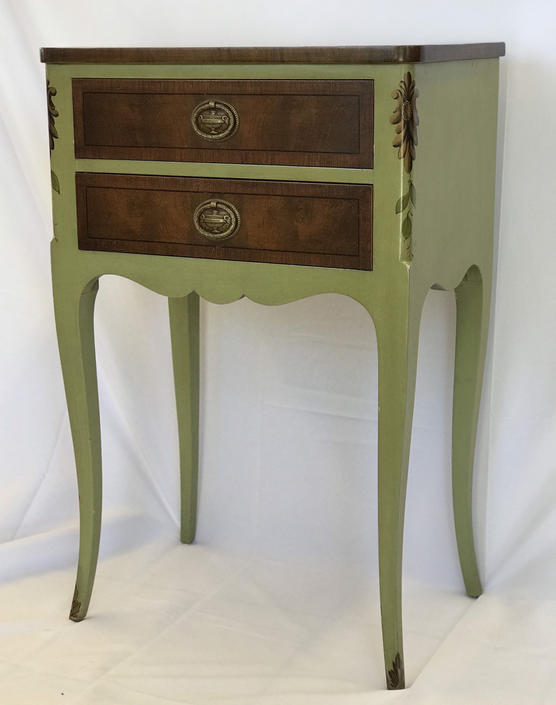 John Widdicomb French Provincial Table Stand by BigWhaleConsignment