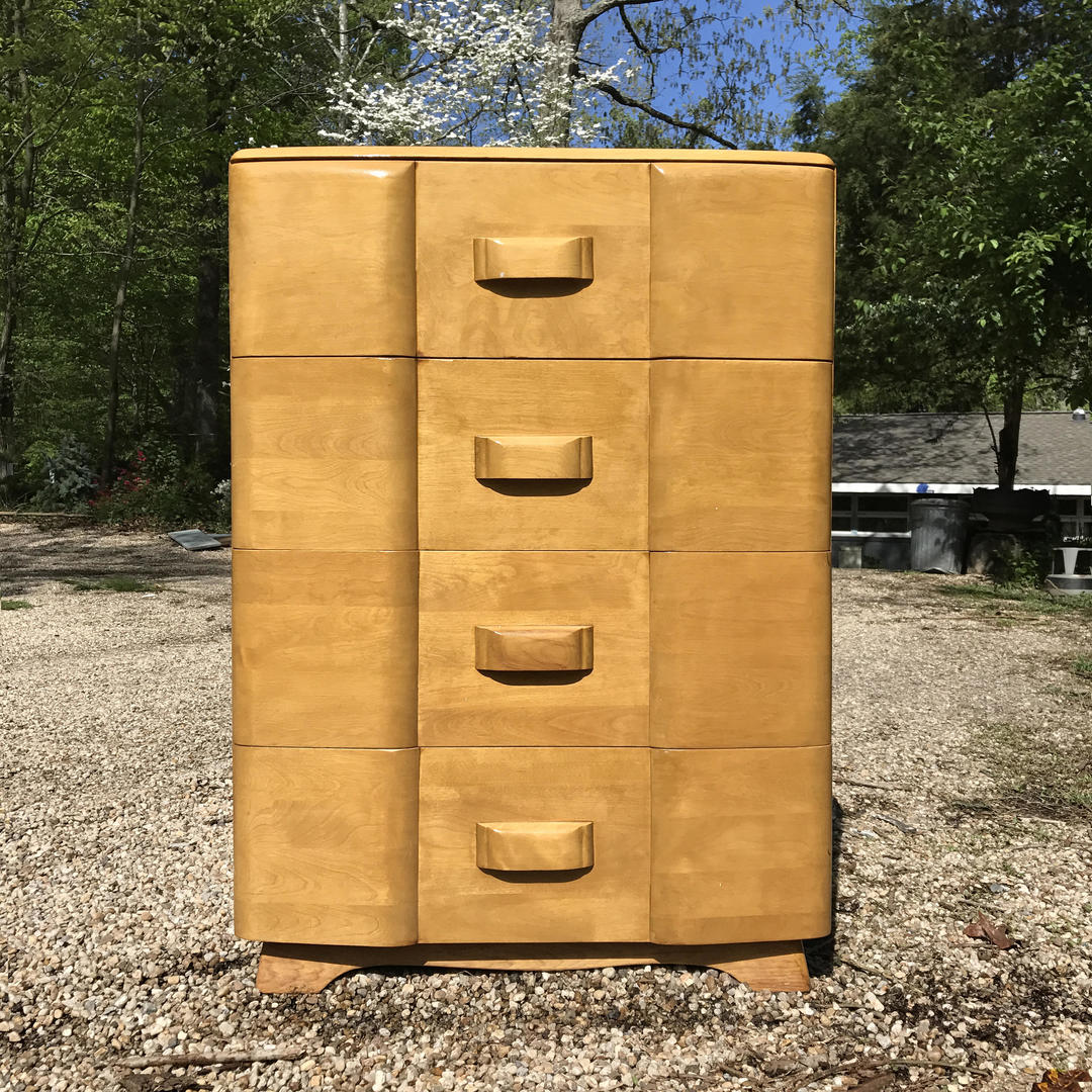 1950s Vintage Heywood Wakefield Maple Tallboy High Dresser Mid Century By Brainwashington From