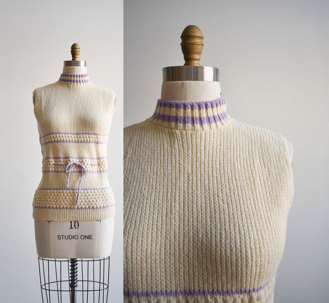 1970s Cream Sweater Vest by milkandice