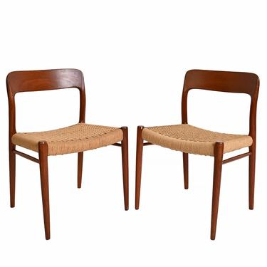 Moller Dining Chairs Model # 75 Chair Set of 6 Danish Modern by HearthsideHome