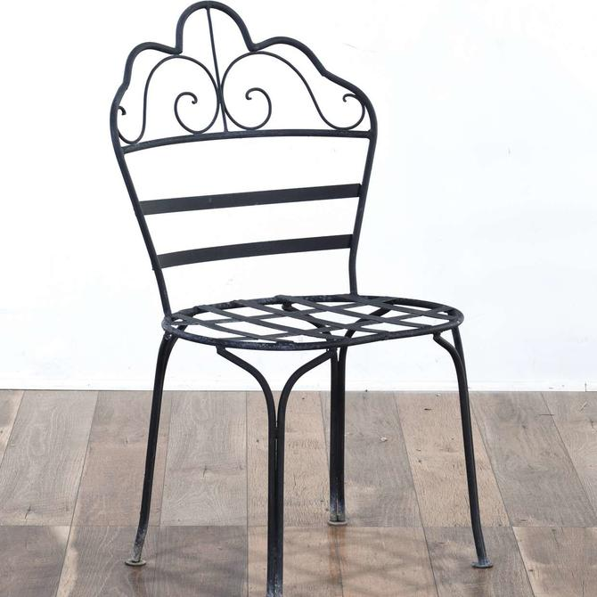 Scrolled Metal Scallop Back Patio Chair