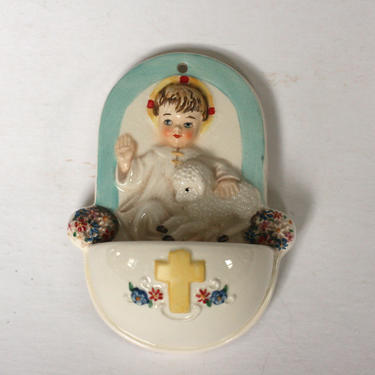 vintage Goebel holy water font childs holy water font made in west germany by suesuegonzalas